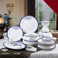 Wholesale Jingdezhen ceramic tableware bone china tableware factory direct suite hotel ceramic tableware dinnerware dish dishes