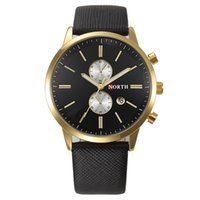 attractive gifts - 2016 NEW Arrival Attractive PC Fashion Waterproof Men Casual Date Leather Military Watch Gift