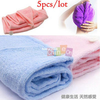bath towels lot - Microfiber Magic Hair Dry Drying Turban Wrap Towel Hat Cap Quick Dry Dryer Bath