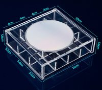 apart jewelry - Crystal Acrylic Jewelry Storage Box With Mirror Apart Grids Cosmetic Receive Box Clear Makeup Box SF B Retail