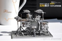 adult jigsaw puzzles - 3D Metal Model Drum Set Model Building Kits Puzzle Scale Solid D Metal Model Jigsaw Puzzle for Children and Adults Gift