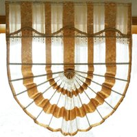 Wholesale New Arrival Luxury Europe Roman Blinds Tulle Sheer Golden Grey Window Treatments Curtains For Hotels villas