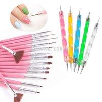 beauty salon brush - nail art design painting dotting pen drawing tools Beauty Salon pink brushes for nail tools JZ164