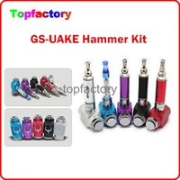 Cheap Colourful GS Hammer Mod Kits UAKE E-cigarette Hammer Pipe Ecig with 18350 900mah Battery Zipper Caes 18350 Charger with battery gift box