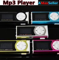 Wholesale Children Gifts Mini Clip MP3 Player LED Flash light LCD Screen Digital mp3 Music Player Support TF SD Card Portable mini Mp3 with retail box