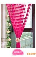 Wholesale Fashion Hot Cute Heart Line Tassel String Door Curtain Window Room Divider Curtain Valance