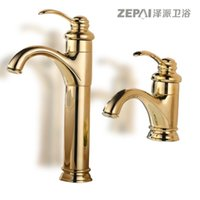 Wholesale European antique copper and gold faucet basin mixer full of hot and cold water faucet counter basin Jane European luxury quality