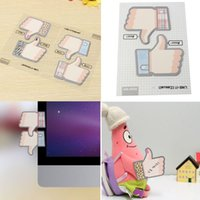 Wholesale 1 Set Of Packs Lovely Thumb Finger Pattern Notes Bookmark Home Wall Self adhesive Memo Pads N Affixed Decor