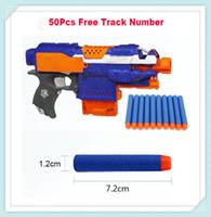 nerf guns - 2015 hot sale retail cm Nerf N strike toy gun soft nerf bullet Elite Rampage Blasters Refill Clip Darts