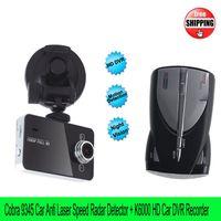 Wholesale DHL Cobra Speed Radar Detector English Russian K6000 Car Camera DVR Novatek Recorder FHD inch Screen