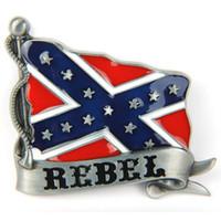 Wholesale Rebel Flag Banner Belt Buckle Southern Confederate Pride