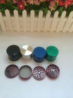 Grinder Tabaco 4 piezas Grinder fumadores Grinder de metal CNC 50mm Dientes Mix Colors