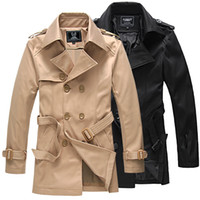 Wholesale Hot Sale New Fashion Brand Trench Coat Men Europe America Style Double Breasted Mens Coats And Jackets