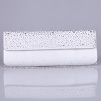 Wholesale Small Beads New Arrival Red White Bridal Hand Bags Party Prom Hand Bags Cheap