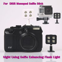 Wholesale For iphone samung IBLAZR Selfie Using Sync LED Flash icanany led video light for DISR monopod selfie stick smartphone led selfie light