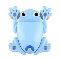 Wholesale 2015 Creative Bathroom Products Sets Cartoon Frog Toothbrush Toothpaste Holder Wall Sucker Suction Hook Tooth Brush Holder