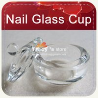 acrylic nail solution - Glass Crystal Bowl Cup Dappen Dish Arcylic Solution Nail Art Tool Liquid Acrylic With Lid
