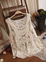 Wholesale Full lace embroidered flowers big yards transparent blouse vest vest