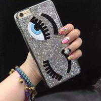 big plastic cover - Chiara Ferragni Sequins Big Blinking Eyes Case for iPhone iPhone Plus Bling Phone Cover