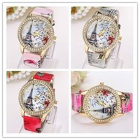 Cheap Lady Dress Watches Best Crystal Eiffel Tower Wristwatches