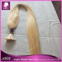 Cheap Grade 7a Brazilian virgin hair bulk packaging 100% remy human hair sew in weave#613 blonde Brazilian human hair weaving