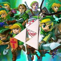 al por mayor collares zelda-2016 Moda leyenda de Zelda la Figura collar del collar pendiente del metal Trifuerza Zelda Trifuerza Para los hombres de las mujeres collar de Declaración 160543
