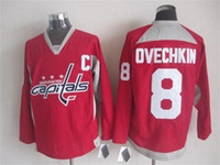 american apparel discount - 2015 Capitals Ovechkin Red Hockey Jerseys With C Patch American Hockey Uniform New Arrival Cheap Discount Brand Outdoor Apparel for Sale