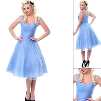 Cheap Reference Images Periwinkle Blue PromDress Best Portrait Tulle A line prom dress