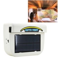 air heating systems - Solar Powered Car Auto Cooling Fan Air Vent Ventilate with Rubber Strip Car Heat Fan System Keep Your Parked Car Cooler White