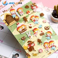 Wholesale Pack South Korea Sent Straight FUNNY Stereo Felt Stickers Diary Deco Hans And Greetel Scrapbooking Stickers Planer