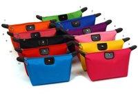 Wholesale 2016 women Dumpling type cosmetic bag capacity cosmetic case candy color nylon cosmetic box waterproof Bags
