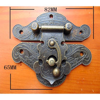 antique wooden chests - 20PCS Antique wood chest alloy lock hasp buckle large wooden wine box gift box accessories ancient buckle clasp