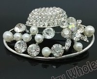 aqua sun - 12 jewelry gift Clear Rhinestone brooch Fashion Costume Brooch Crystal Pearl Sun Hat Brooch pin