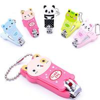 Wholesale retail Lovely Cat Panda Frog Cartoon Animal Nail Scissors Cute Mini Nail Clippers