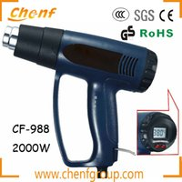 Wholesale One Piece Temperture Adjustment W Heat Gun Digital Thermostat Hot Gun Air Gun With LCD Digital Display