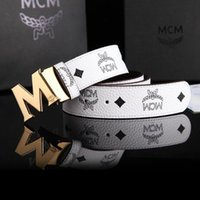 115 men belt - 2015 NEW MCM Belt Cool Belts for Men and Women belts Fashion Casual Belts M Shape Metal strap Ceinture Buckle
