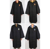 Wholesale New and Hot Harry Potter Uniform Gryffindor s School Robe Cloak Cosplay Costume size for children style and adult style