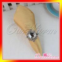 dinner napkin - Gold Satin Table Dinner Napkin quot Square Men Pocket Handkerchief Multi Purpose Wedding Party Decoration