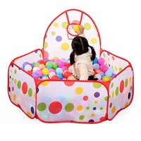 Cheap 2016 New Foldable Children Kid Ocean Ball Pit Pool Game Play Tent Ball Hoop In Outdoor Play Hut Pool Play Tent House