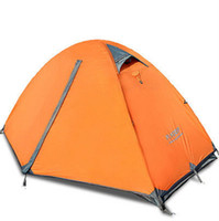 Wholesale DHL shipping Camping Outdoor Person Hiking Shelters Double layer Waterproof Camping Aluminum Tent color