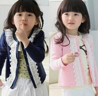 Wholesale Spring baby girls clothing Lace Princess Coat Children Outwear girls Jackets lace cardigan jacket Casual Coat