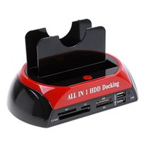 Wholesale 2 quot quot SATA IDE Double Dock HDD Docking Station e SATA Hub External Storage Enclosure Parts Free