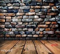 vinyl floor tile - Thin Vinyl Photo Studio Backgrounds with Brick Wall Tiles and Floor Pattern Photography Backdrops Cheap Photography Backdrops x10ft QD09