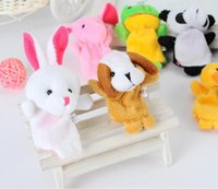 Wholesale NEW children gift creative section of small animal finger even double with foot animal finger even baby hand puppet to tell a story