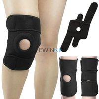 knee brace and support - new and good quality Flexible Elastic Stabilising Knee Belt Support Brace Fastener Strap Sport Black