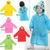 Wholesale Hot Sales Children s Boy Girl Rain Gear Coat Raincoat Suitable cm Height Kid Oxford Cloth Cover Cute Cartoon DX200