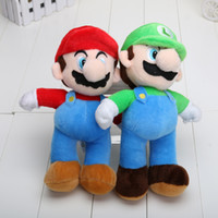 8-11 Years mario plush - 2pcs NEW Arrival SUPER MARIO Bros PLUSH MARIO LUIGI PLUSH DOLLS Toys