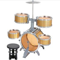 Wholesale Jazz drum series instruments toys become musicians from childhood five drum combination laser version marvel select