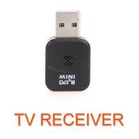 Wholesale DVB T Mini USB Digital TV HDTV Stick Tuner Dongle Receiver Recorder Remote Control for PC Laptop DVBT