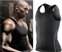 Wholesale 2015 new Men PRO Bryant basketball running training Sleeveless Sport Vest high elastic backing sweat vest Top Tees Tank Tops